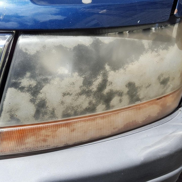 Cloudy Jeep headlight