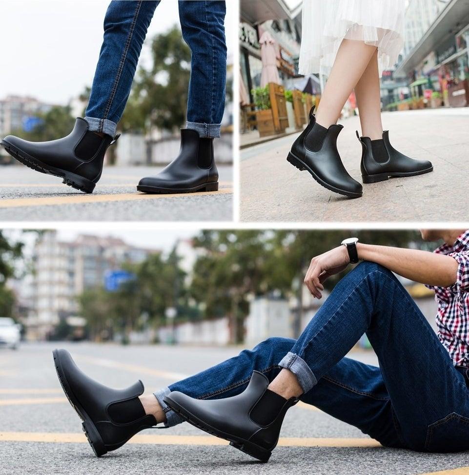 rubber chelsea boots