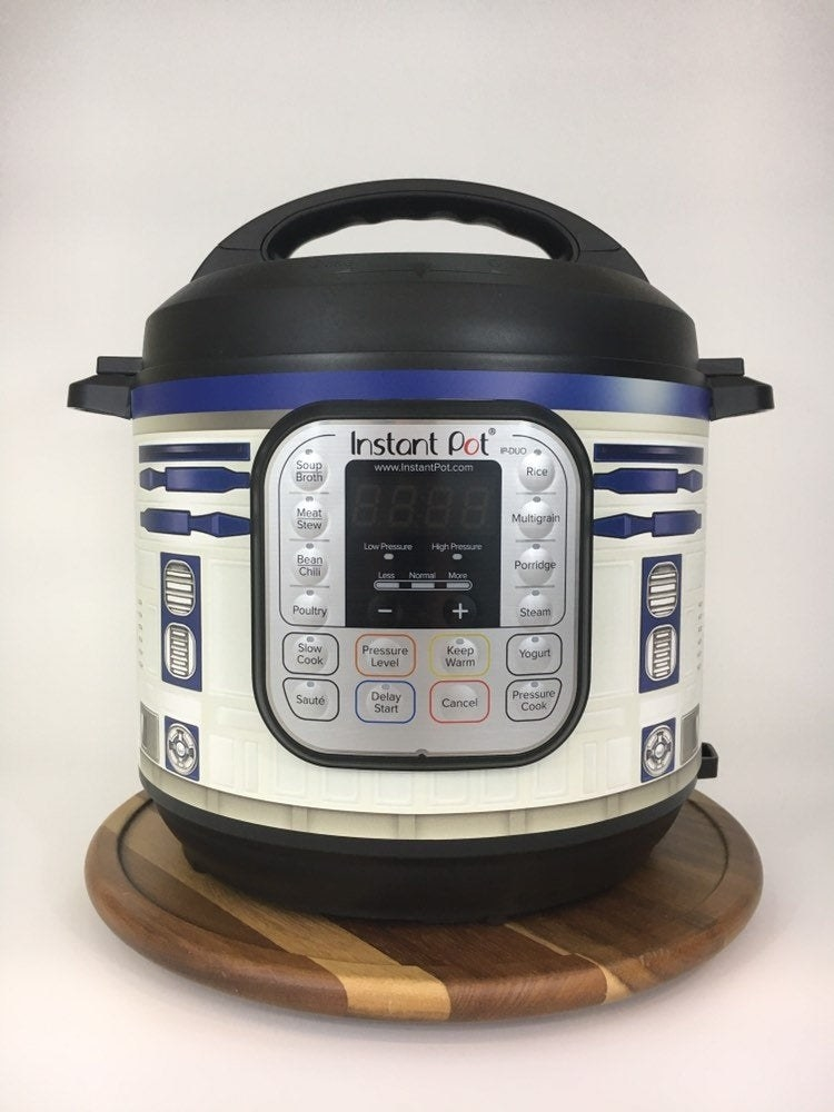 stand pot with r2d2 skin