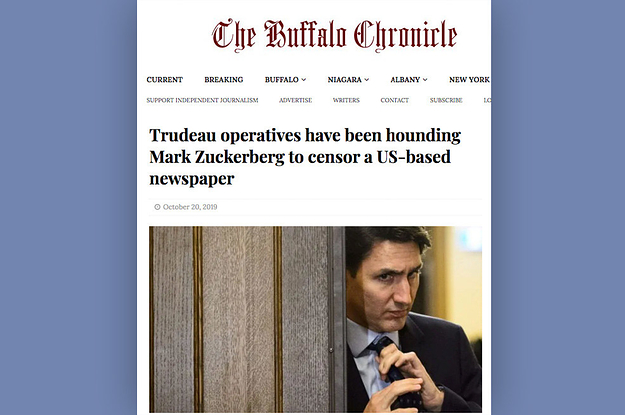 The Buffalo Chronicle Ran Facebook Ads Promoting Dubious Trudeau Stories