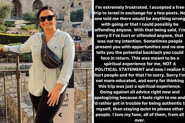 Demi Lovato Apologised After Her Free Trip To Israel Caused A Huge Backlash