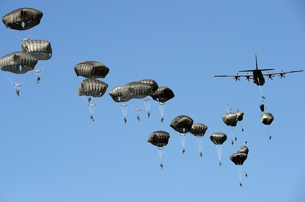 23 Soldiers Were Injured When Strong Winds Blew Them Into Trees During A Parachute Training Exercise