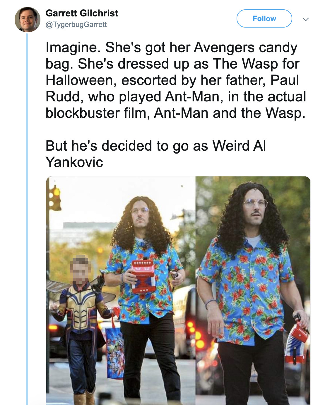 Weird Al Responded To That Viral Photo Of Paul Rudd Dressed As Weird Al For Halloween