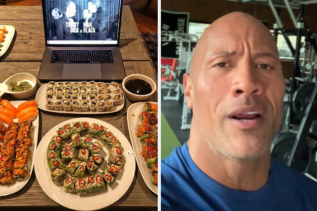 """The Rock Posts Pictures Of His """"Epic Cheat Meals"""" And I Have No Idea How He Eats This Much And Is Still Alive"""