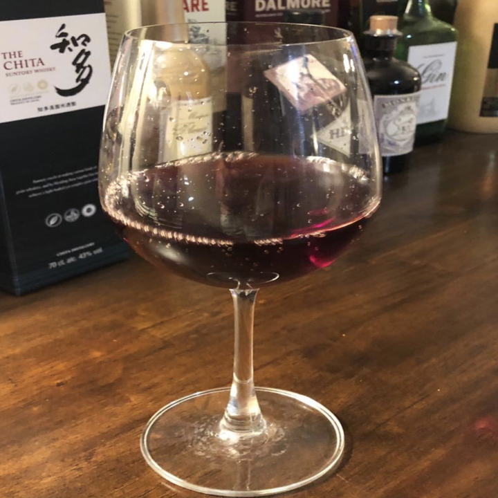 reviewer photo of a glass of wine