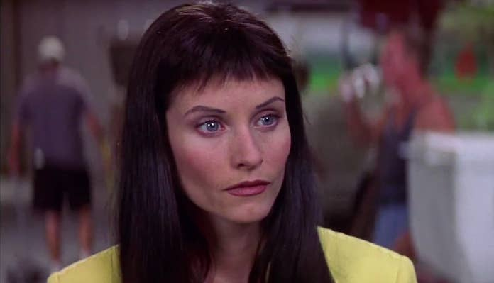 Courteney Cox Made Fun Of Her Bad Scream Bangs And It Literally