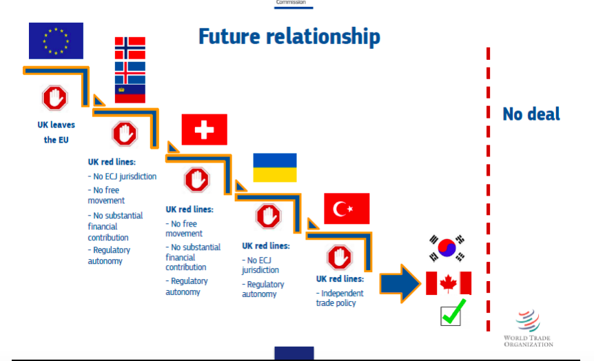 Flow chart from the EU of future relationship options