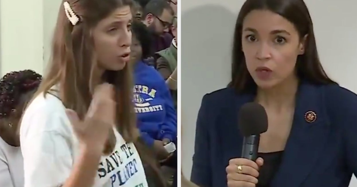 "A Pro-Trump Conspiracy Group Planted A Fake Climate Activist Who Suggested ""Eating Babies"" At An AOC Town Hall Meeting"