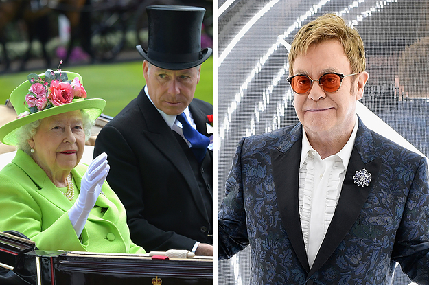Elton John Claimed He Once Saw The Queen Playfully Slap Her Nephew While Saying