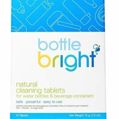 the package of cleaning tablets