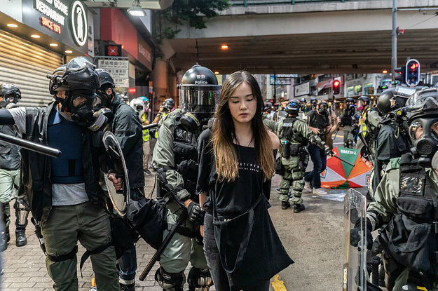 Hong Kong Banned Wearing Masks In Public. So People Filled The Streets Wearing Masks In Defiance.