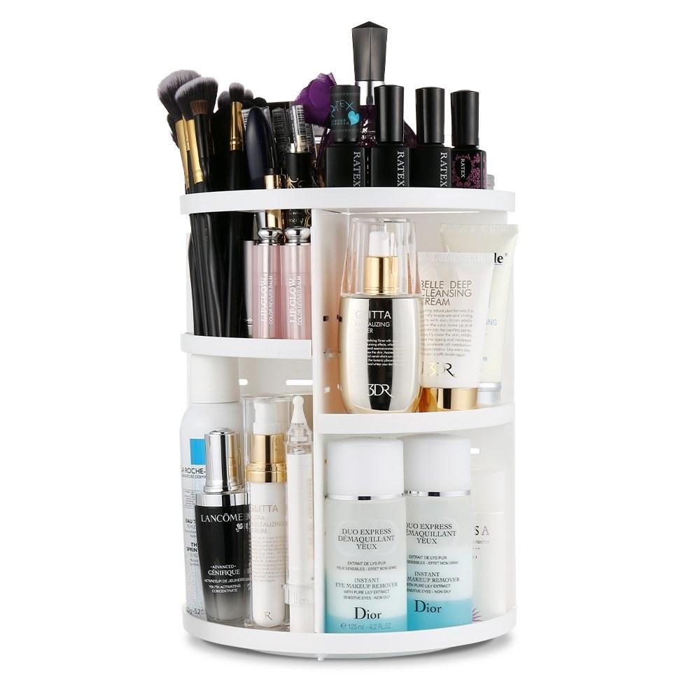 rotating makeup shelf