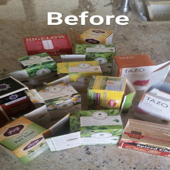 reviewer's picture of multiple boxes of tea