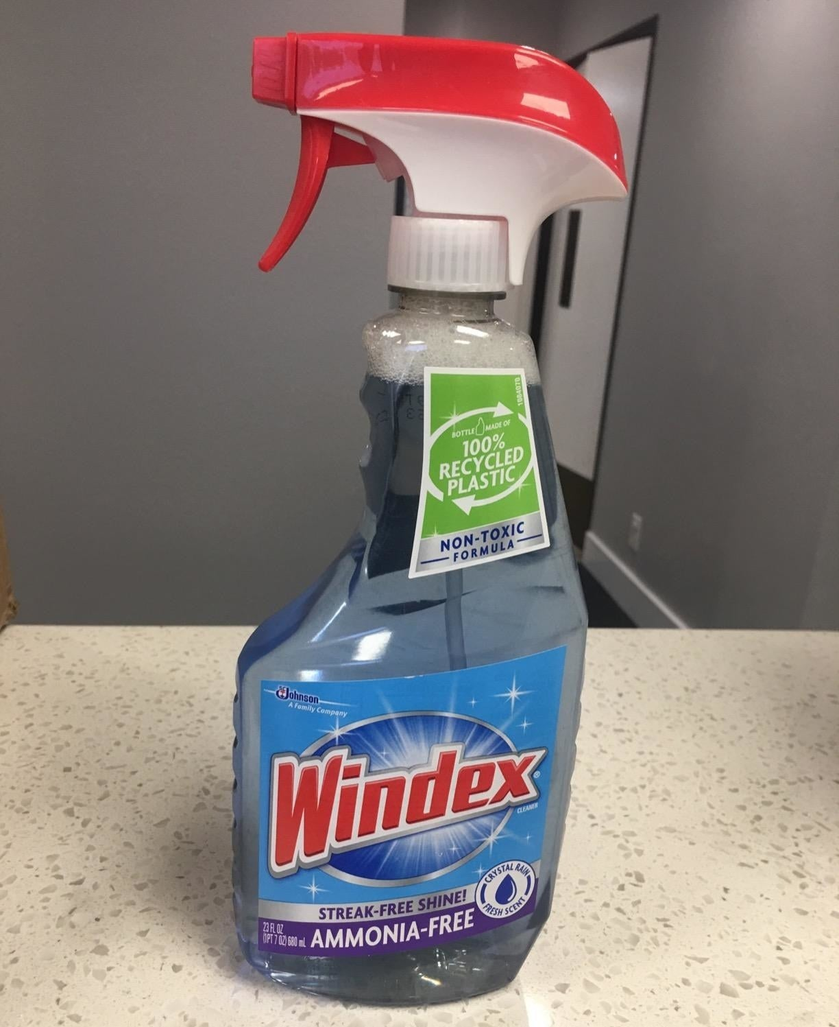 The spray bottle