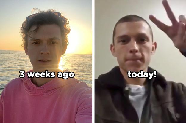 tom holland new haircut