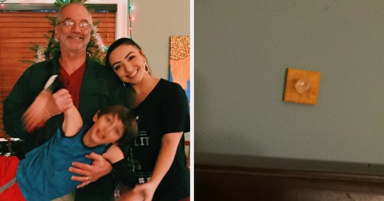 A Woman Pinned A Cheez-It On A Wall To See When Her Dad Would Notice. It Took About 4 Years.