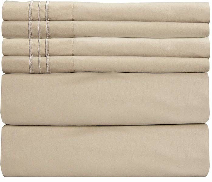 stack of beige sheets