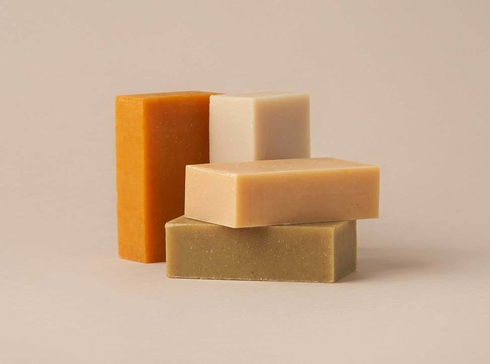 Earth-toned shampoo bars