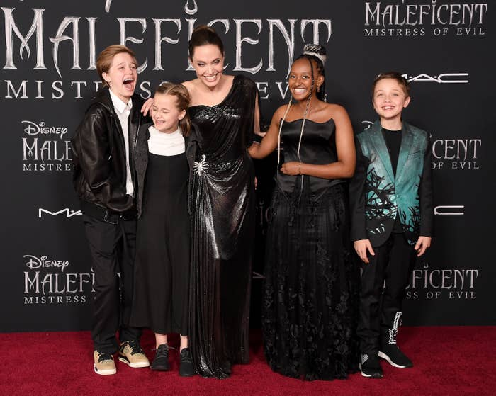 Angelina Jolie Brought Shiloh And Zahara To The Maleficent