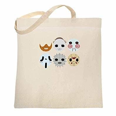 the horror masks canvas bag