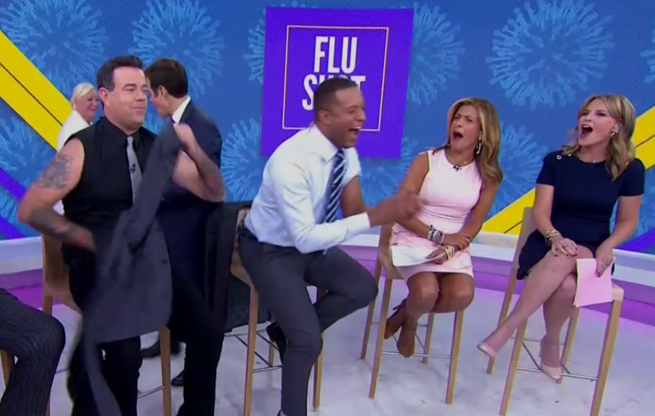 Carson Daly S Flu Shot Shirt Revealed A Bunch Of Tattoos On The