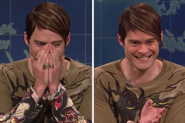 "14 Super Hilarious Times Bill Hader Broke Character On ""SNL"""
