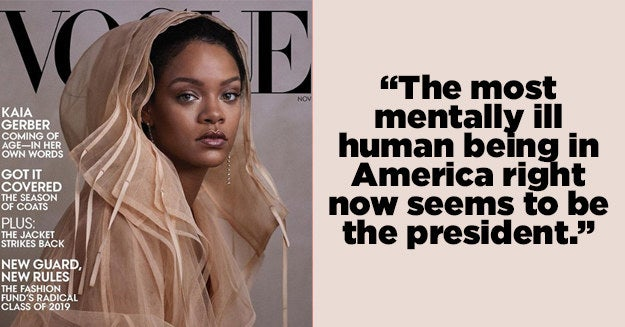 """Rihanna Just Called Trump """"The Most Mentally Ill Human Being In America"""" In A New Interview thumbnail"""