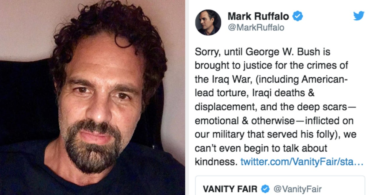 Mark Ruffalo Had Absolutely No Time For Ellen's Comments About George W. Bush