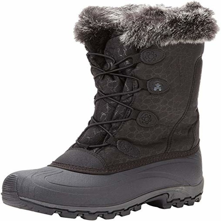 the boots in black and gray
