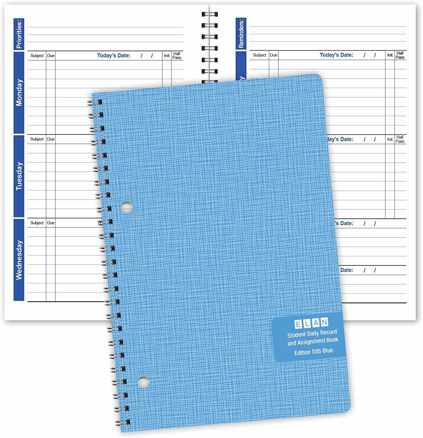 The cover and inside of the student planner