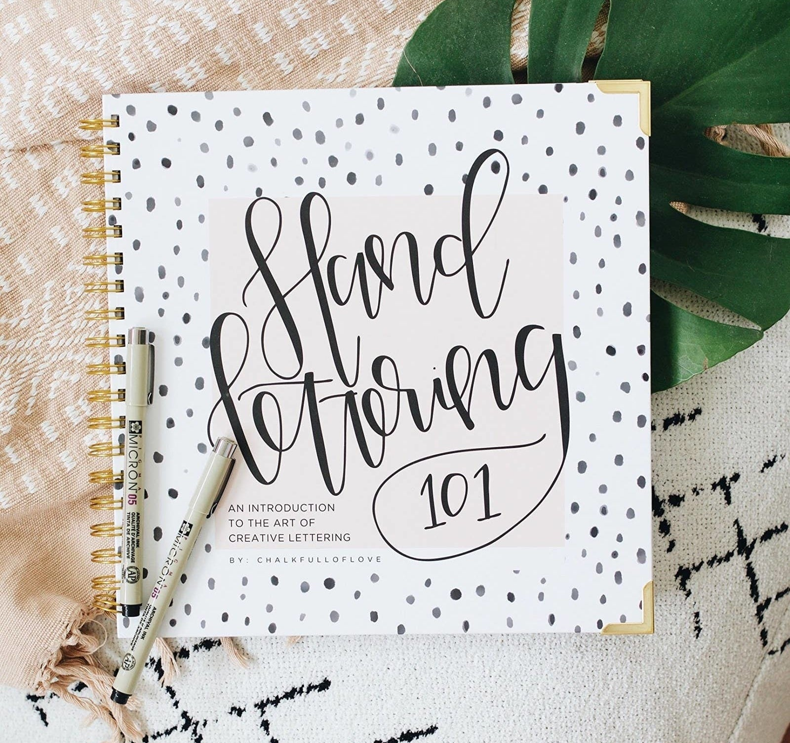 A book titled Hand Lettering 101