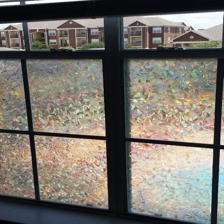 reviewer's decorative film on their window