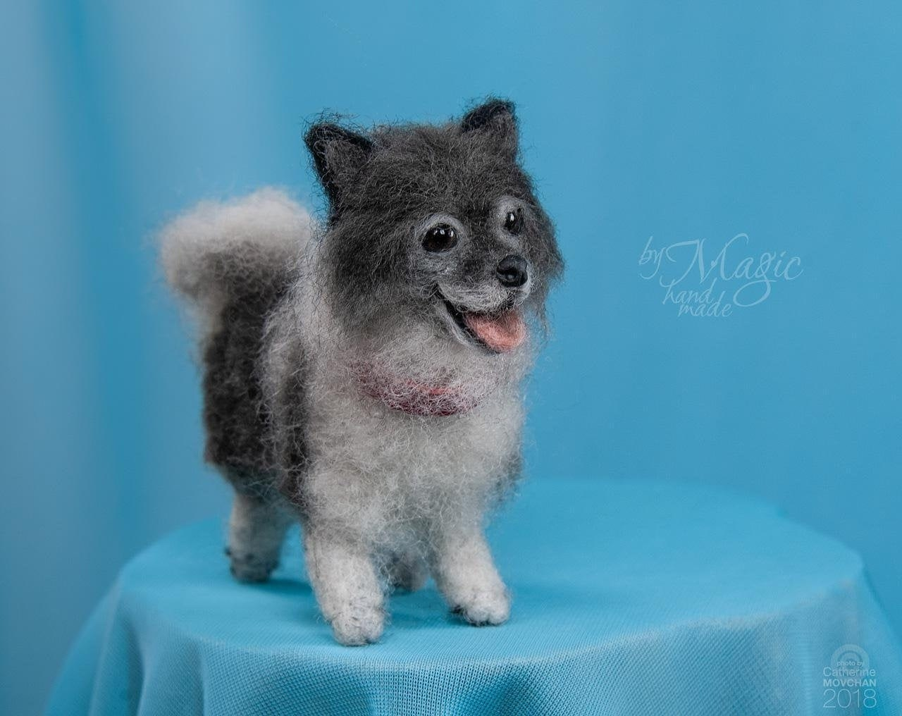 small felted dog