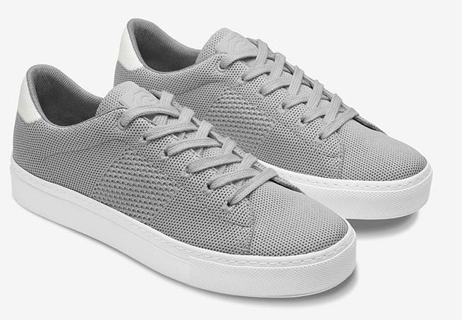 The grey sneakers