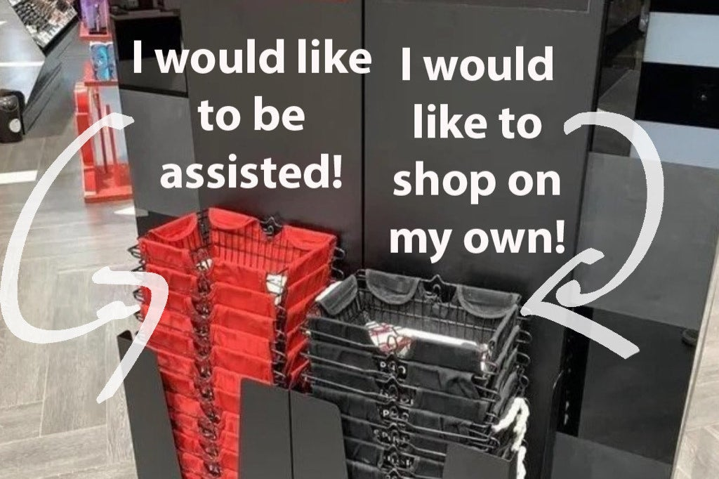 People Are Loving The Idea Of These Introvert-Friendly Shopping Baskets At This Sephora