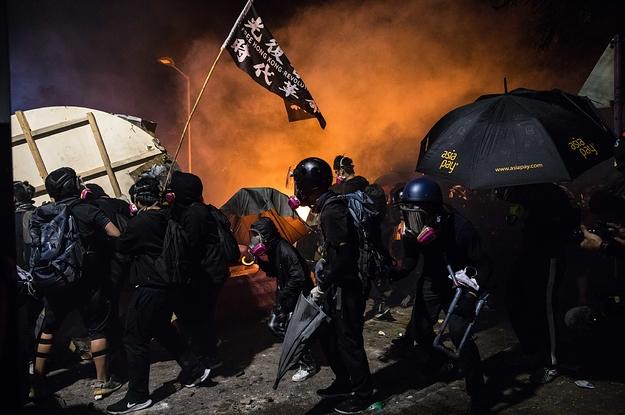 A College Campus Became A Literal Battleground In Hong Kong