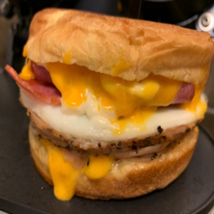 a delicious looking breakfast sandwich