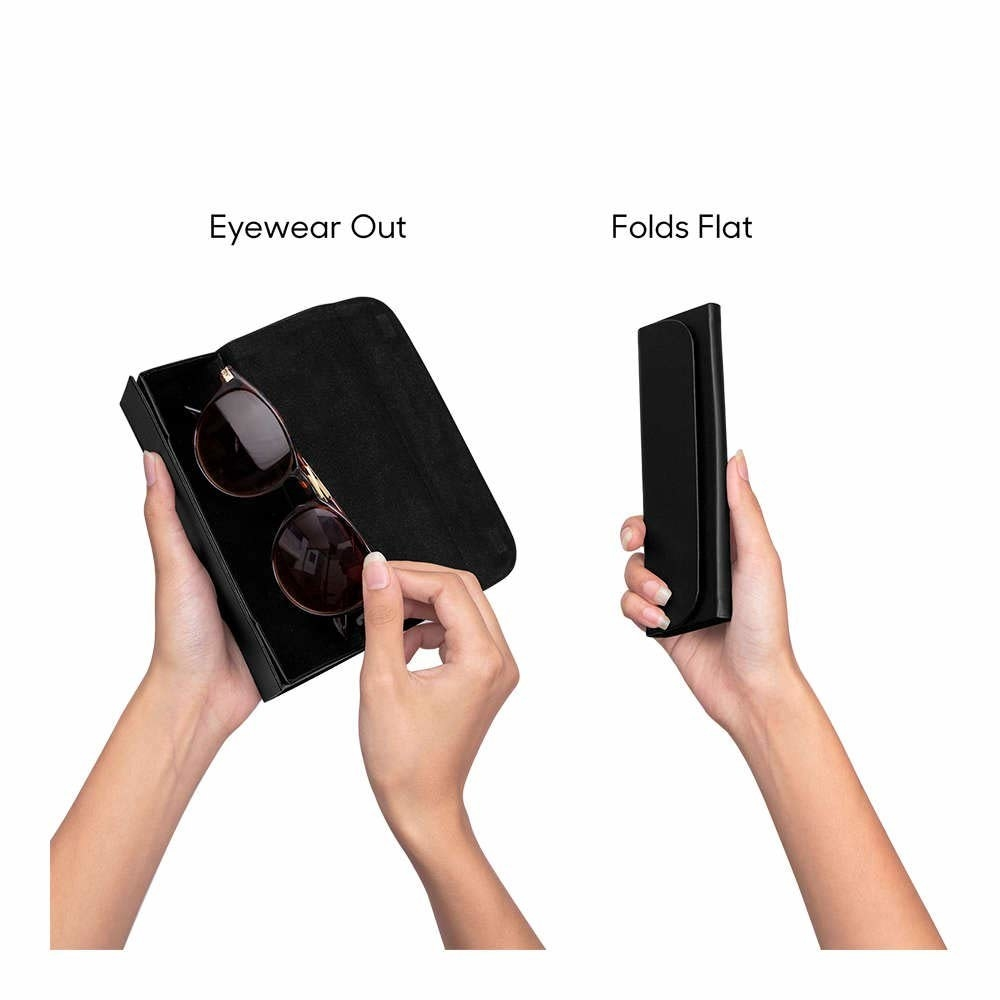 Image showing case with eyewear in, and folded case.