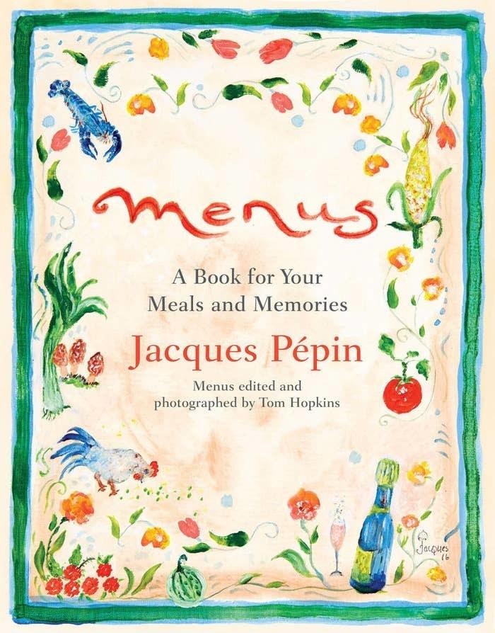 The menu book cover