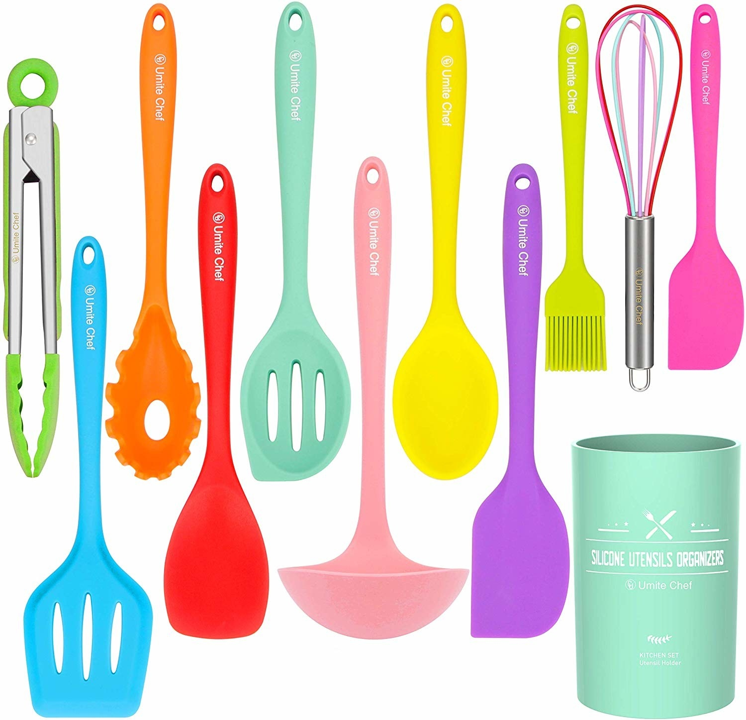 the colorful utensils