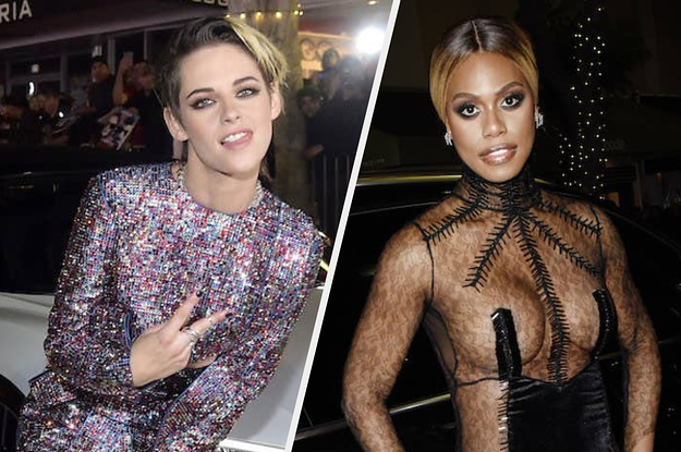 """Kristen Stewart And Laverne Cox Really, Really Went For It At The """"Charlie's Angels"""" Premiere - BuzzFeed"""