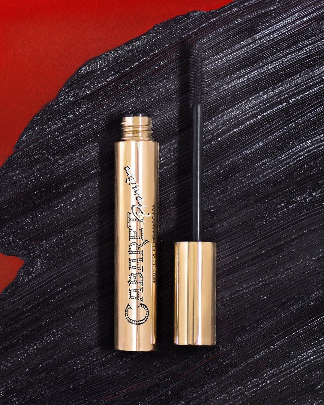 The gold-packaged mascara