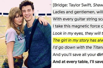 Shawn Mendes Wrote Some New Lyrics For Taylor Swift's