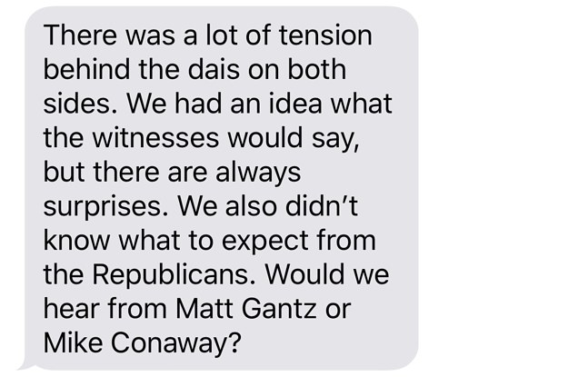 Texting With Jim Himes: There Was A Lot Of Tension Behind The Dais During The Impeachment Hearing