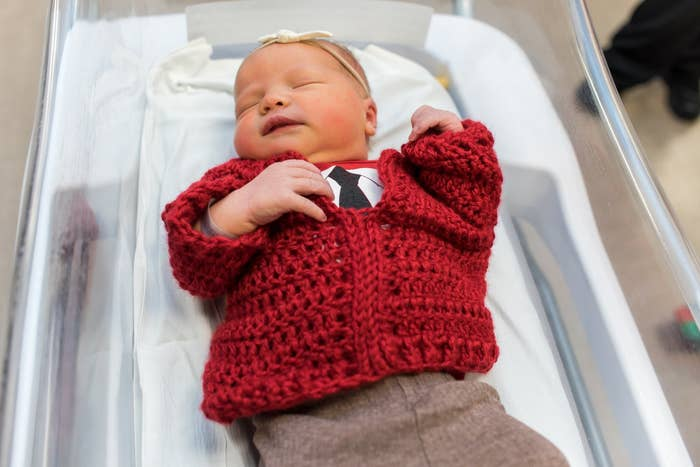A Hospital Dressed Babies in Tiny Cardigans to Surprise Mrs. Rogers