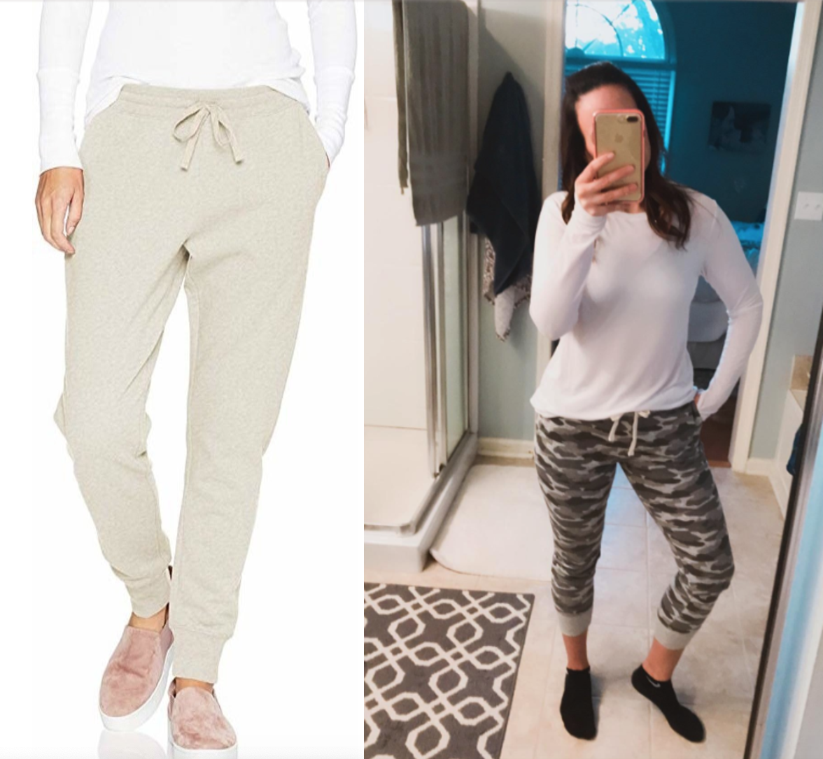 model and reviewer wearing the leggings