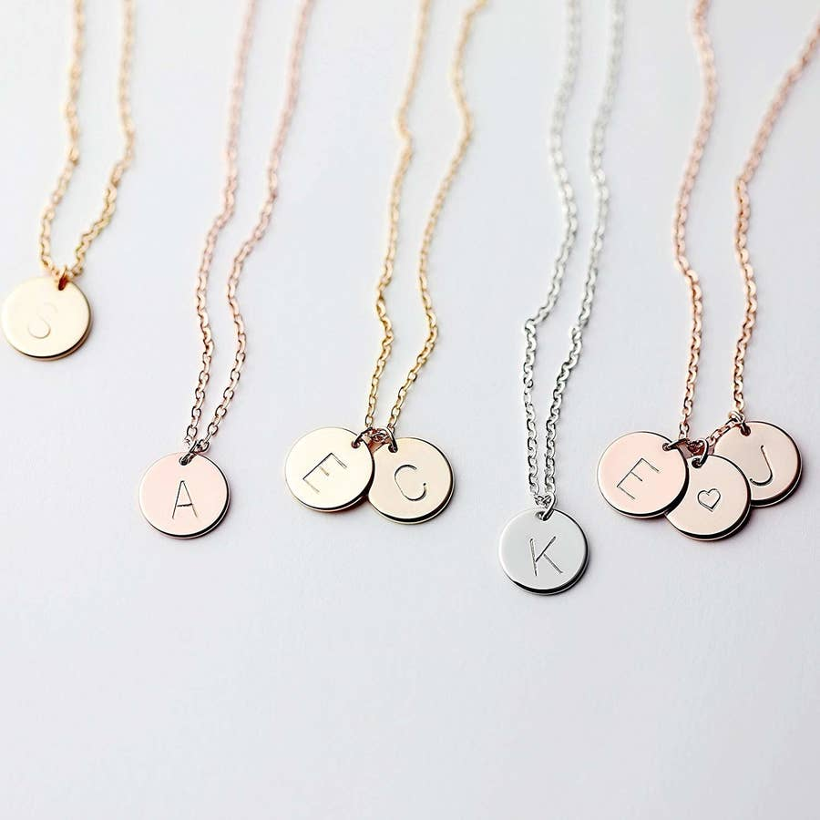 Personalized Initial Necklace Girl Power Necklace,Personalized Graduation Friend sister gift Me Too Necklace With U necklace