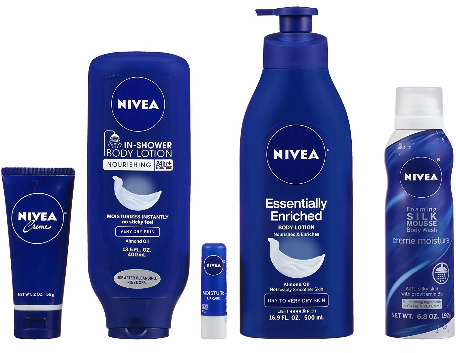 the Nivea products