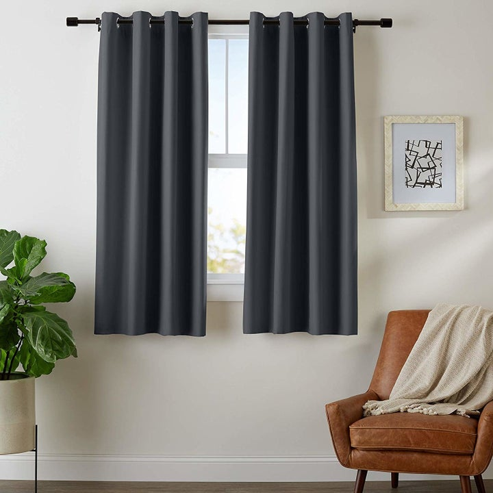 the curtains in gray