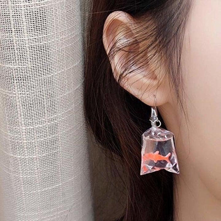 model wearing the earrings